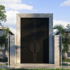 Front Gate Design, House Gate Design, Door Gate Design, Entrance Design, Modern Entrance Door, Modern Exterior Doors, Modern Front Door, Entry Doors, Gate Designs Modern