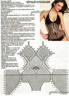 Bademode Ropa Interior y bikinis a Crochet (patrones) Crochet Lingerie, Crochet Bra, Crochet Bikini Pattern, Crochet Bikini Top, Crochet Diagram, Crochet Poncho, Crochet Clothes, Crochet Patterns, Crochet Monokini