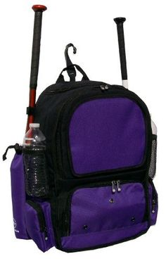 Black and Purple Chita CY Youth Softball Baseball Bat Equipment Backpack BKPUCY by MAXOPS. $29.99. The Chita Youth is a equipment backpack for T-Ball to 9U players, softball or baseball. It has two compartments that can hold all types of equipment and accessories. The Chita is comfortable to wear, with strong padded back panels.. Save 40%!