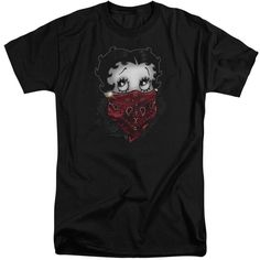 Boop/Bandana & Roses Short Sleeve Adult T-Shirt Tall in