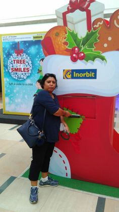 Ms Meenakshi gifted a smile to a child, this Christmas! #InorbitMakesMeSmile