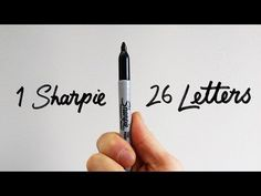 1 Sharpie   26 Letters - How to draw the serif alphabet - YouTube