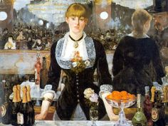 A Bar at the Folies-Bergere - Edouard Manet -1882  - Gallery: Courtauld Institute of Art, London, UK