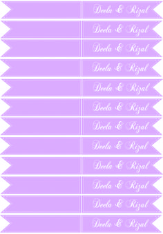 Food Flags. Engagement set for Deela and Rizal! Theme Purple and Pink. Celebrate love with us.