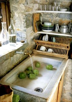 | ♕ | Provençal kitchen | by Maisons Cote' Sud | via aesthetically thinking