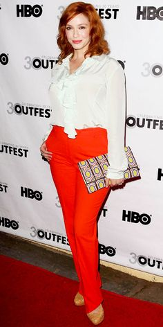 Love the Clutch from Christina Hendricks - Look of the Day - InStyle