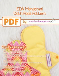 EDA Menstrual Cloth ... by Carolina Corral | Sewing Pattern - Looking for your next project? You're going to love EDA Menstrual Cloth Pads Pattern by designer Carolina Corral. - via @Craftsy