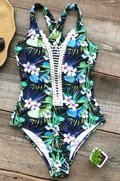 Cupshe Lost Woods Print One-piece Swimsuit #swimsuit #swimsuitsonepiece
