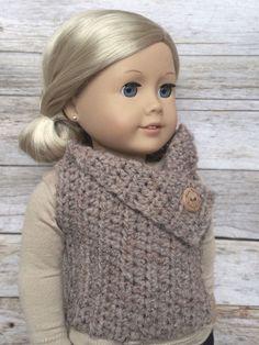 DIY Crochet Pattern  18 inch Doll Almond Button by FuzzyBundle