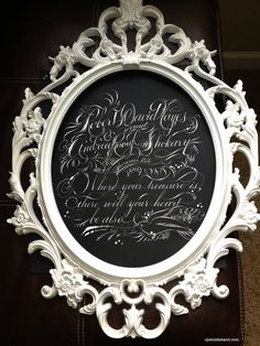 Custom Calligraphy: Vows as Art