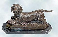dachshund statue