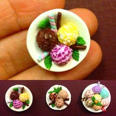 Dollhouse miniatures 1 scale. Ice cream