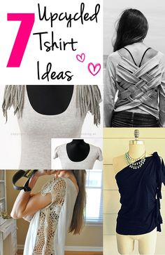 Share with friends... Top 7 Up-cycled T-shirt ideas Hey lovely readers! Are you looking for some ways to up-cycle your old tee and redesign it to give a custom, chic look? Well, then look no more because here are the top 10 up-cycled T-shirt ideas. Enjoy! Click on the images for the …