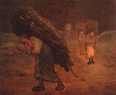 Jean-Francois Millet — Winter: The Faggot Gatherers, 1868, Jean-Francois...