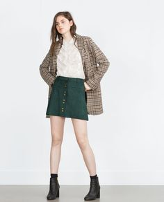 Image 1 of MINISKIRT WITH BUTTONS from Zara