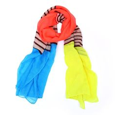 Multicolour Soft Cotton Scarf Women Striped Voile High Quality Ladies Scarves #Scarf