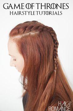 Game of Thrones Hairstyles - Sansa Stark braid tutorial