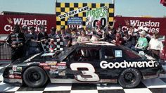 April 1989 - North Wilkesboro Speedway: First Union 400 - Dale Earnhardt won the First Union 400 at North Wilkesboro on the re-introduced Goodyear radial tires. Nascar Race Cars, Nascar Sprint Cup, North Wilkesboro, Racing News, Auto Racing, The Intimidator, Monster Energy Nascar, Dale Earnhardt Jr, Victorious