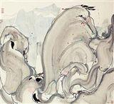 Wu Guanzhong - ROCKS ON MOUNT HUANG, ink and... on MutualArt.com