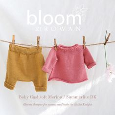 Bloom at Rowan Collection Two Baby Cashsoft Merino by Erika Knight Eleven contemporary knitwear designs for Mother and Baby by Erika Knight that are made to be lived in! This thoughtful collection was created for expectant mothers to accompany them on their beautiful journey from bump to baby, and beyond. Easy to knit,