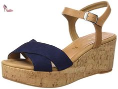 Unisa  KIBER_KS_RI, Sandales Bout ouvert femme - Multicolore - Mehrfarbig (NAVY/NATUR), 38 - Chaussures unisa (*Partner-Link)