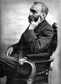 Alfred Nobel, Swedish inventor of dynamite, founder of the Nobel Prizes, born October 21, 1833.