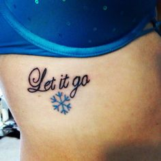 Disney Frozen tattoo! Let It Go.....