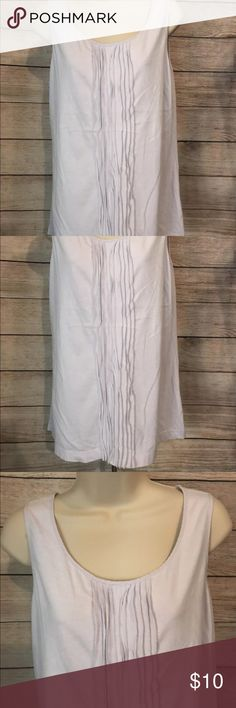 J Jill Silk Trim Pleated Light purple Tank sz M J Jill Silk Trim Pleated Light purple Tank Top Shell Basic Staple sz M J. Jill Tops Tank Tops