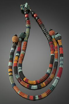 Luxor Necklace by Julie Powell: Beaded Necklace available at www.artfulhome.com