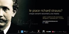 Le piace Richard Strauss? Advertising hoarding for music festival dedicated to Richard Strauss