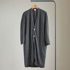 PNCD|キュプラポンチロングカーディガン #charcoal grey top