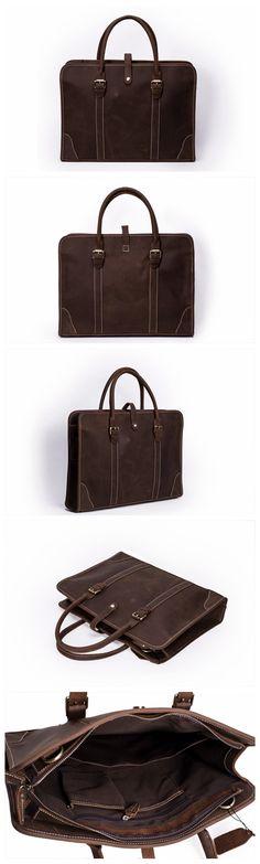 38e3914d21 Handmade Vintage Genuine Leather Mens Briefcase