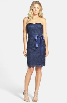 Love this dress! Hoping it comes out in Spring colors so I can wear it for my wedding reception!  Adrianna Papell Lace Sheath Dress.