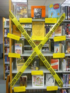 Banned Books Week display at San Antonio Public Library