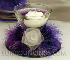 Center pieces with colored water and floating candles for weddings | CPKFE4-2T.jpg