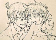 Manga Detective Conan, Detective Conan Shinichi, Conan Comics, Detektif Conan, Kaito Kuroba, Kaito Kid, Kudo Shinichi, Anime Group, Eroge