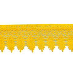 Exquisite Venice lace trim that will be the perfect addition to your creative project Color: Yellow Width: 3.5 Inches Sale For : 1 Yard Made In India Perfect for crafts, clothing, boutique accessories, costume decorating, home decorating, sewing projects...etc   The photos closely represent the colors, however some slight differences can occur due to website uploading issues. SHIPPING & PROCESSING: ------------------------------------- PROCESSING: Your order will be shipped within 1-3 day...