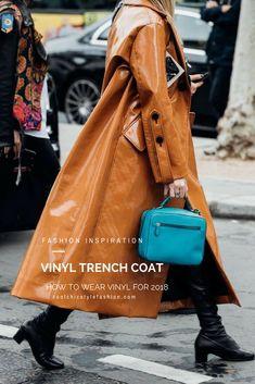 Fashion Inspiration: Vinyl Trench Coat