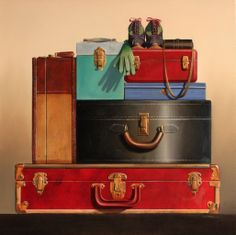 The eclectic traveler by wendy chidester vintage luggage, vintage suitcases, stil Vintage Suitcases, Vintage Luggage, Life Paint, Travel Outfit Summer, Kid Friendly Dinner, Train Case, Happy Summer, Kids House, Kids Playing