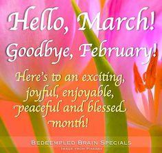 Goodbye, February!