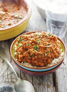 Vegan Lentil Meatballs in Creamy Tomato Curry Sauce - Heather Christo