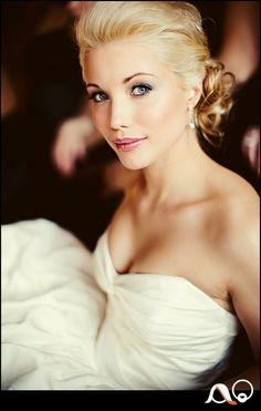 Light smoky eyes & soft pink lips - wedding make up maybe darker lips?