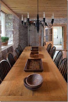 Beautiful farmhouse table