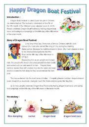English worksheet: Dragon Boat Festival                                                                                                                                                      More