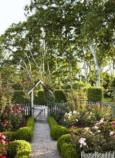 Rose garden. Design: Podge Bune. Photo: Francesco Lagnese. housebeautiful.com. #garden #roses #rose_garden #outdoor_space