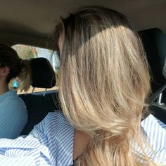 Spring hair  Honey blonde and brunette ombre/balayage  Layered curly/wavy style