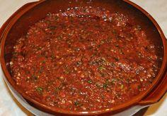 Aci-Domates-Ezmesi -Turkish spicy tomato salsa