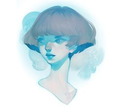 heads! watercolor effects from here. || LOISH || Lois Van Baarle