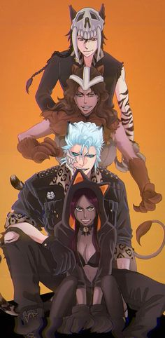 Meow. I saved because I like Grimmjow & the way he's dressed. I saved it just because of Grimmjow. Yoruichi is okay. I could care less for the other two. I just like Grimmjow.