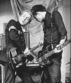 Joe Strummer and Paul Simonon of The Clash.